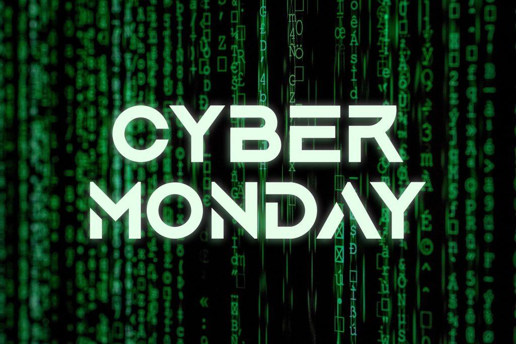 cyber monday statistics sign
